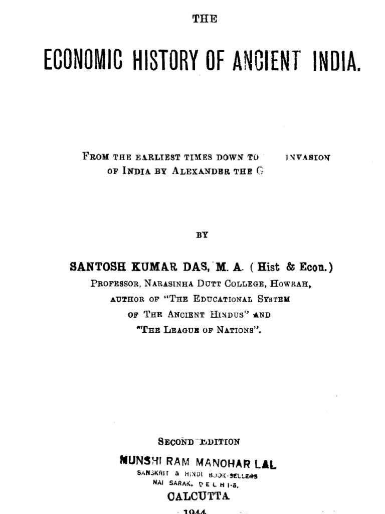 Economic history of ancient India (Santosh Kumar Das, 1944) | Himalayas |  Soil