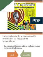4 Ciclo de Conferencias, Comunicacion en Las Organizaciones
