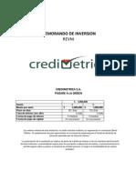 SANTA FE VALORES - EMISOR CREDIMETRICA (Memo de inversión)