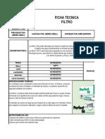 Ficha Tecnica Filtro Angelica