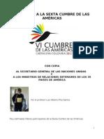 MI APORTE A LA SEXTA CUMBRE DE LAS AMÉRICAS