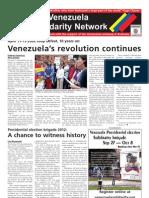 April 2012 broadsheet of the Australia-Venezuela Solidarity Network
