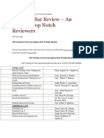 Uste Pre Bar Review
