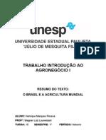 TRABALHO-INTRODUÇÃO AO AGRONEGÓCIO I