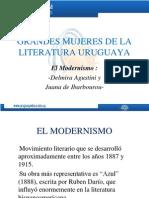Grandes Mujeres de La Literatura Uruguaya- El Modernismo