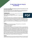 Quy trình sale hàng nhập tại công ty forwarding
