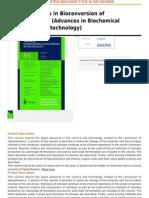 Recent Progress in Bioconversion of Lignocellulosics (Advances in Biochemical Engineering Biotechnology
