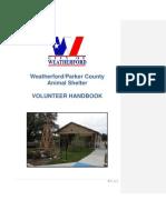 Weatherford Shelter Volunteer Manual