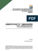 Direito Civil II Obrigacoes - Roteiro de Curso