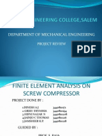 Finite Element Analysis on Screw Compressor