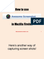 How to Use Awesome Screenshot in Firefox