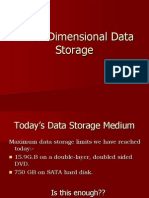 Three-Dimensional Data Storage