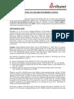 Accounting Standard Interpretations