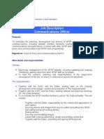 Communications Officer Job Description