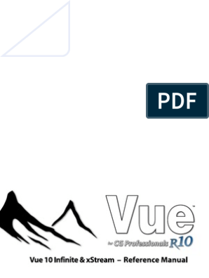 Vue 10 Reference Manual | Rendering (Computer Graphics