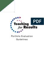 Portfolio Evaluation Guidelines