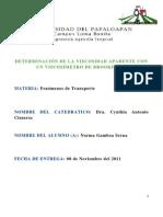 DETERMINACIÓN DE LA VISCOSIDAD APARENTE CON UN VISCOSÍMETRO DE BROOKFIELD