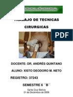 Trabajo de Tecnicas Cirurgicas