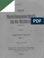 H Dv 200-6 Ausbildungsvorschrift Fur Die Artillerie 1943