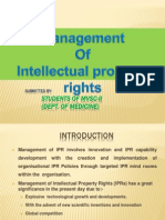 Management of Ipr