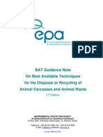 BAT Guidance Note Disposal or Recycling of Animal Carcasses and Animal Waste