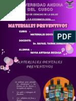 materiales preventivo