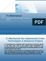 P J Mechanical Has Implemented Green Technologies In Numerous Projects