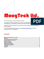 Business Plan Example MoogTech
