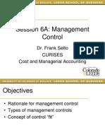CURISES 5A Management Control
