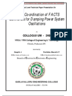 Fuzzy Co-Ordination of FACTS Controllers for Damping Power S