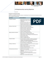 P21 to Entrepreneurship Learning Objectives 28Feb11