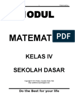 13632195 Rangkuman Mata Pelajaran Matematika Klas IV