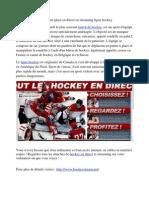 Hockey sur glace en direct en streaming ligue hockey