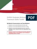 Griffith Graduate Attributes - Teamwork Skills Toolkit