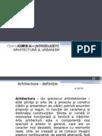Elemente de Arhitectura - Curs 1