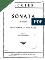 Eccles - Sonata G Minore (Double Bass Part)