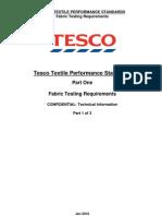 Tesco Textile Performance Standards Part 1 - Jan 2010