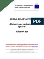 Ghidul Solicitantului Pentru Masura 121