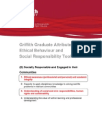Griffith Graduate Attributes -  Ethical Behaviour