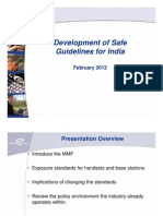 Development of Safe Guidelines for India, Michael Milligan