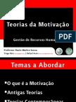Teorias da Motivação - Power Point