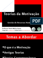 Teorias da Motivação - Power Point