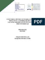 Telecomunicatii Programa Titularizare 2010 M