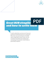 Great B2B advertising straplines and how to write them