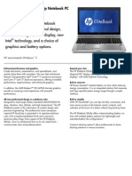HP Elitebook 8560p Datasheet
