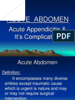 Acute Abdomen. 14.03.11