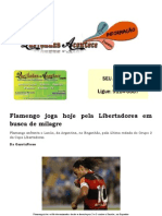 Flamengo Joga Hoje Pela Libertadores Em Busca de Milagre