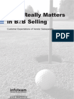 Market Research - Success Factors in B2B Selling (January 2009)