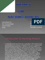 Presentation on Hacking Attacks