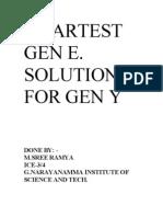 Smartest Gen e Solution for Gen y